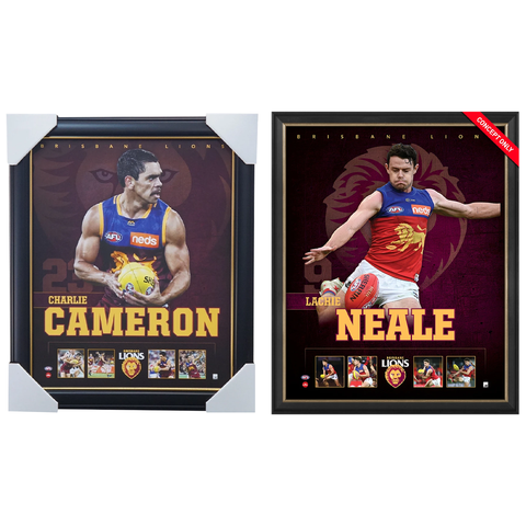 Brisbane Lions Official Licensed AFL Prints Framed Cameron Neale - 4502