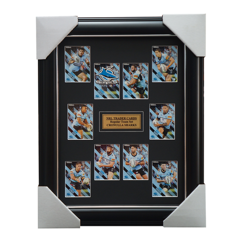 2021 NRL Traders Cards Cronulla Sharks Team Set Framed Graham Woods - 4650