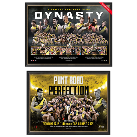 Punt Road Perfection 2019 & Richmond Dynasty Official Print Frame Package - 4569