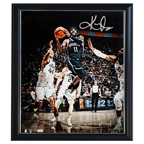 Kyrie Irving Signed Brooklyn Nets Official Panini Photo Framed - 4600