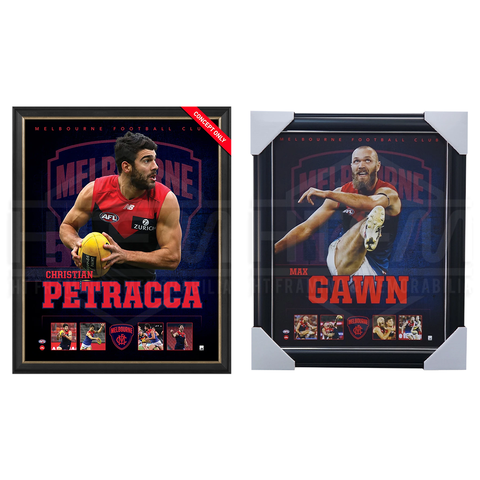 Melbourne Demons Official Licensed AFL Prints Framed Gawn Petracca - 4492