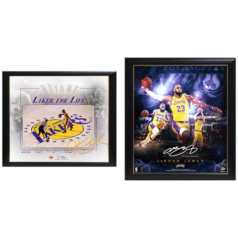Lakers Package Official Licensed NBA Prints Framed Lebron Kobe - 4540