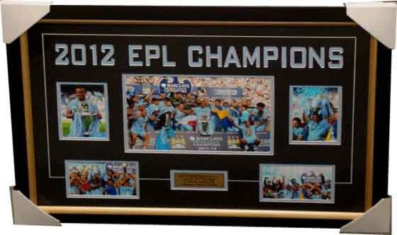 Manchester City 2012 EPL Champions Collage Framed - 4006