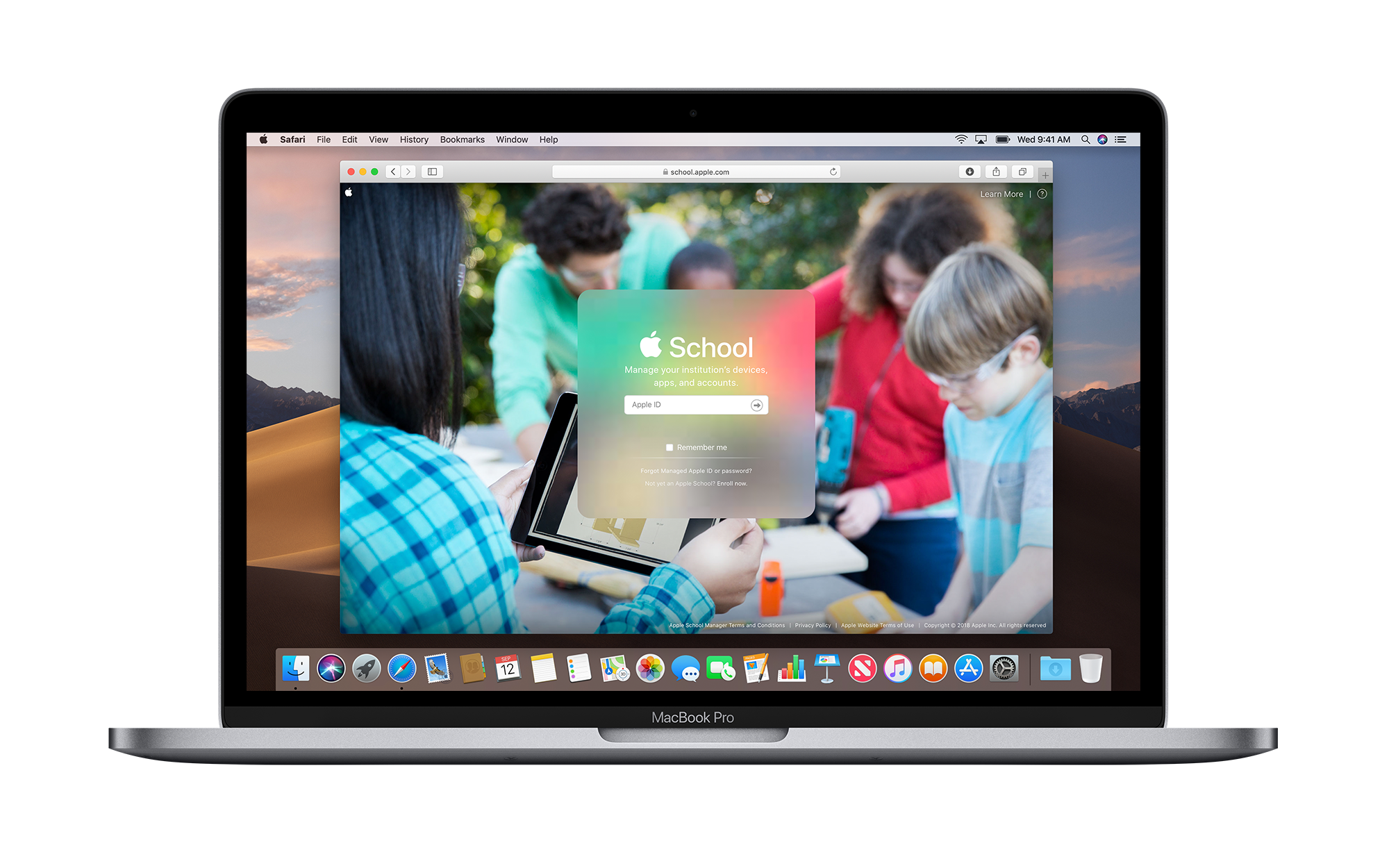 Apple School Manager Screen