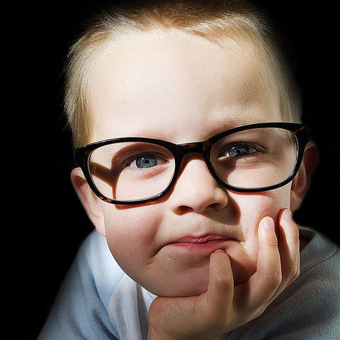 child-and-optical-glasses