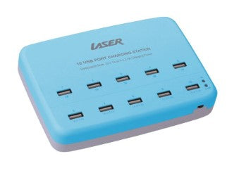 Buy Laser Laser 10 USB Port Charging Station - Blue Charge Station  - New Gauge Digital