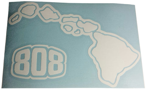 808 Hawaiian Islands Sticker BIG SIZE 15 1/2 inches X 10 inches