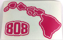 808 Hawaiian Islands Sticker MEDIUM SIZE 8 3/4 inches X 5 3/4 inches