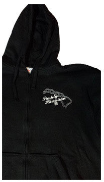 Simply Islands Embroidered Black Full Zip