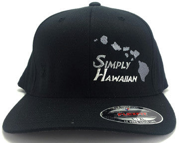 Grey Islands Black FlexFit hat