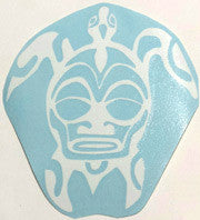 Tribal 2 Honu white Sticker