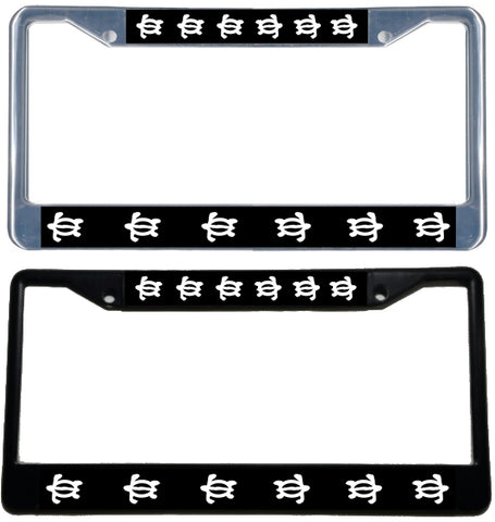 Honu License Plate Frame - Black & chrome