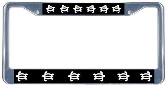 Honu License Plate Frame Black Amp Chrome Simply Hawaiian