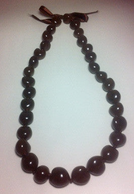 Kukui Nut Lei - Brown