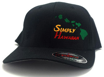 Rasta Islands Black FlexFit hat