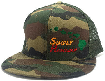 Rasta Islands Green Fatigue Snap Back Trucker Flat Bill