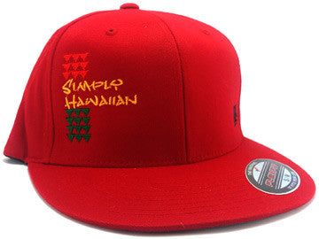 Rasta Simply Hawaiian Shark Teeth Red FlexFit Hat
