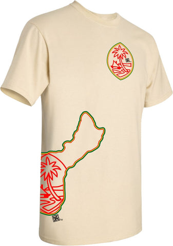 Rasta Guam Islands T Shirt