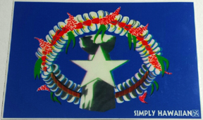 Saipan Flag Sticker