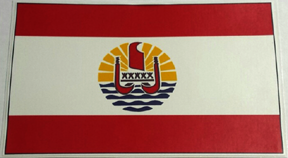 Tahiti Flag Sticker