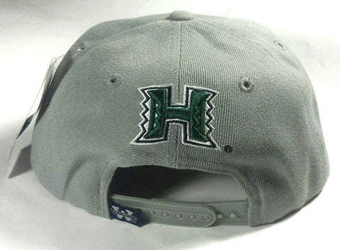 UH Grey Green Snap Back Flat Bill Hat