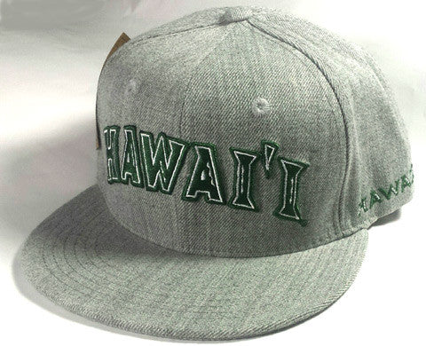 UH Grey Snap Back Flat Bill Hat