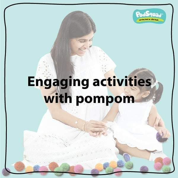 Easy activities with pompom balls.