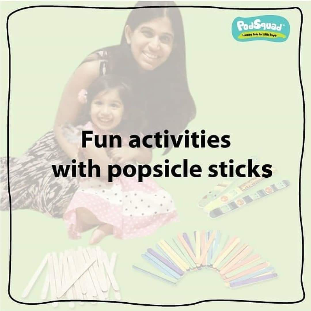 Engaging activities with popsicle sticks.