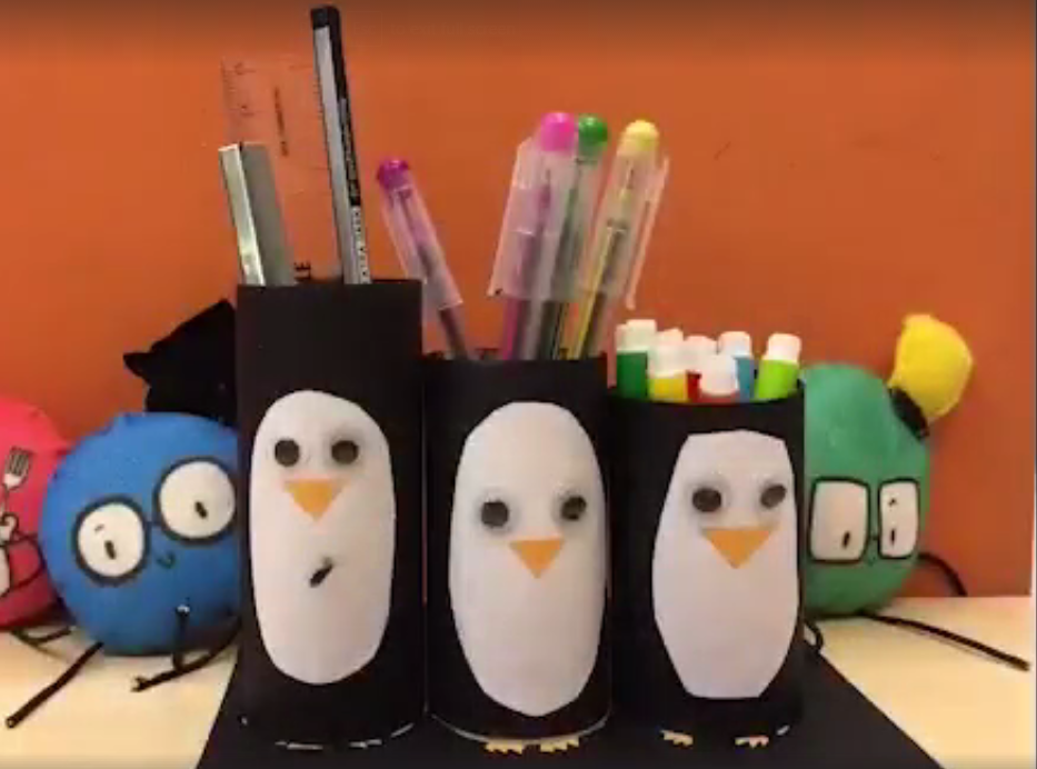Make a pen holder out of recycled materials!
