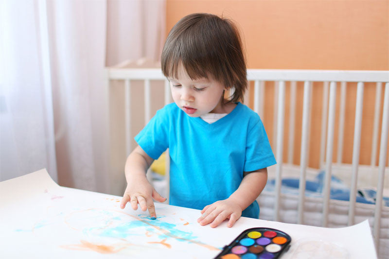 Teach your kids Finger Painting