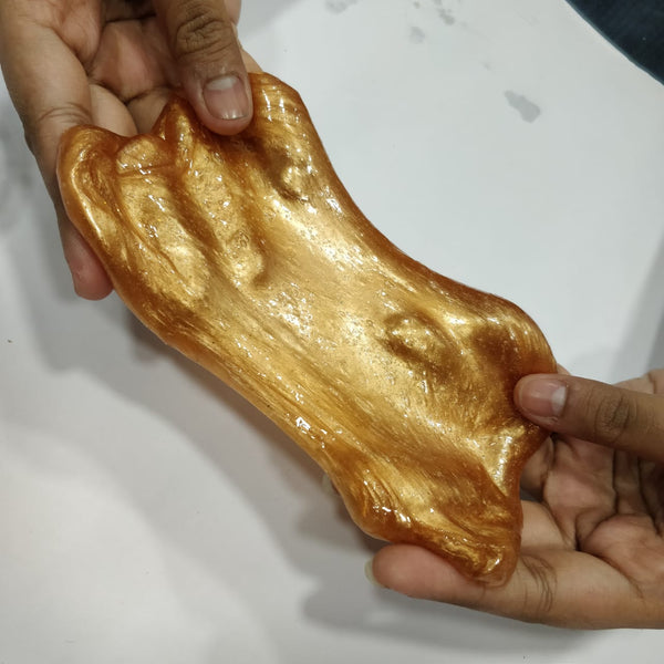 DIY Silky Golden Slime