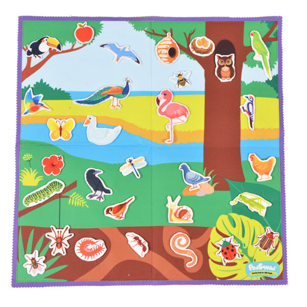 Felt Activity Mat- Birds and Bugs