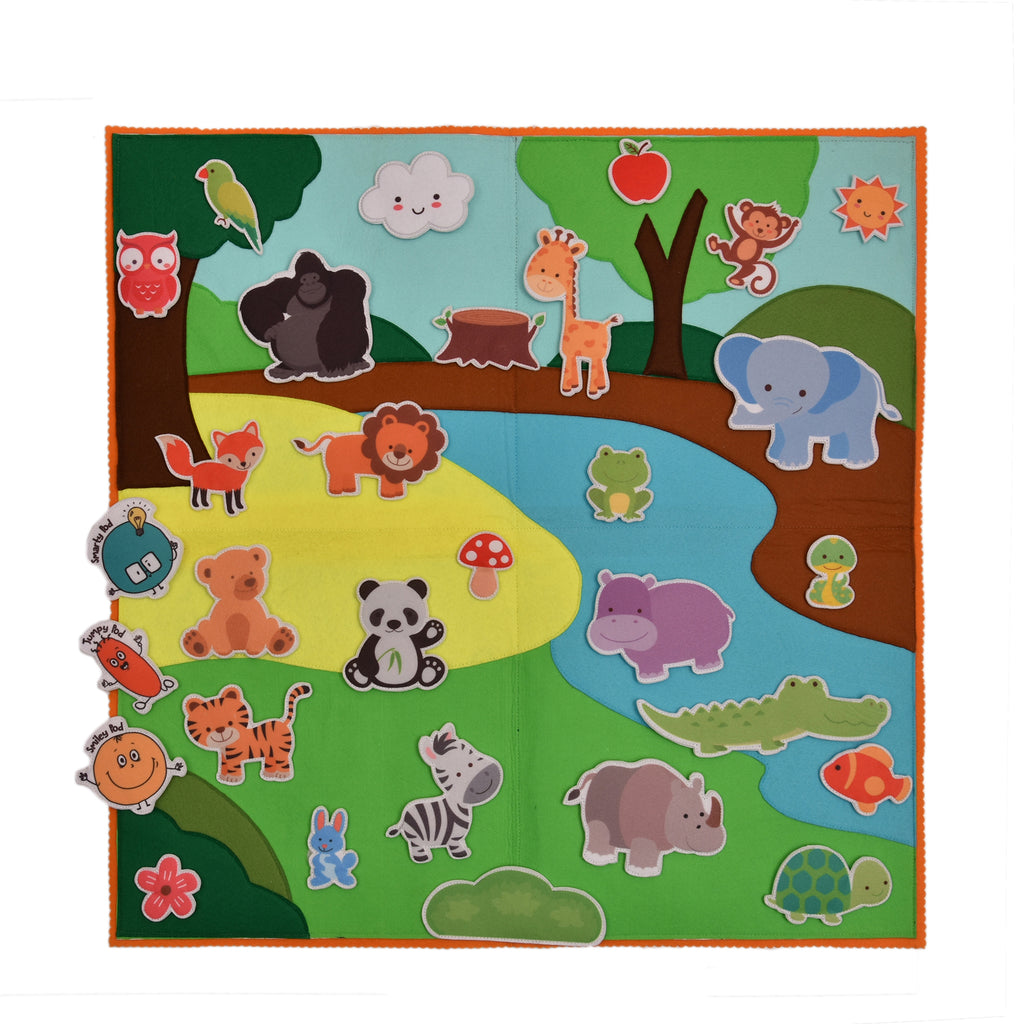 Felt Activity Mat- Wild Animals