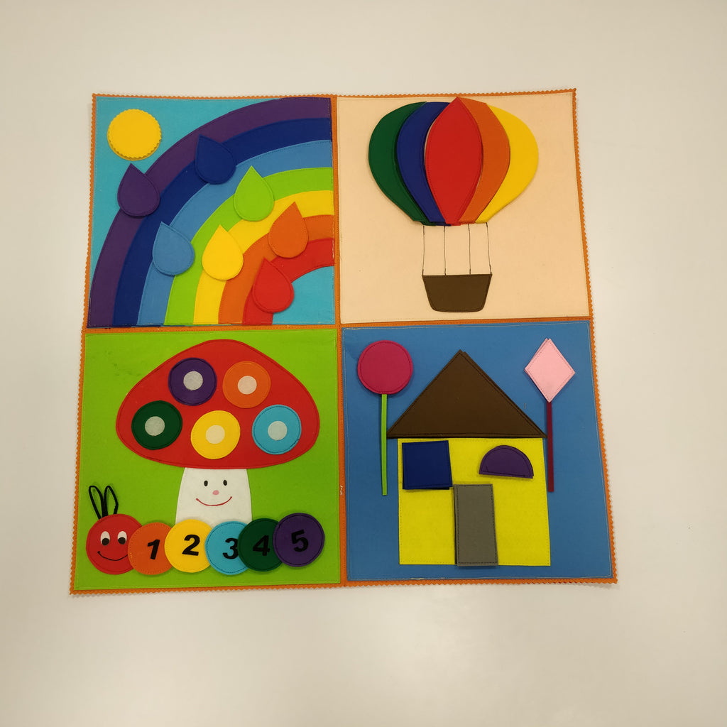 Felt Activity Mat- Colors, Numbers and Shapes