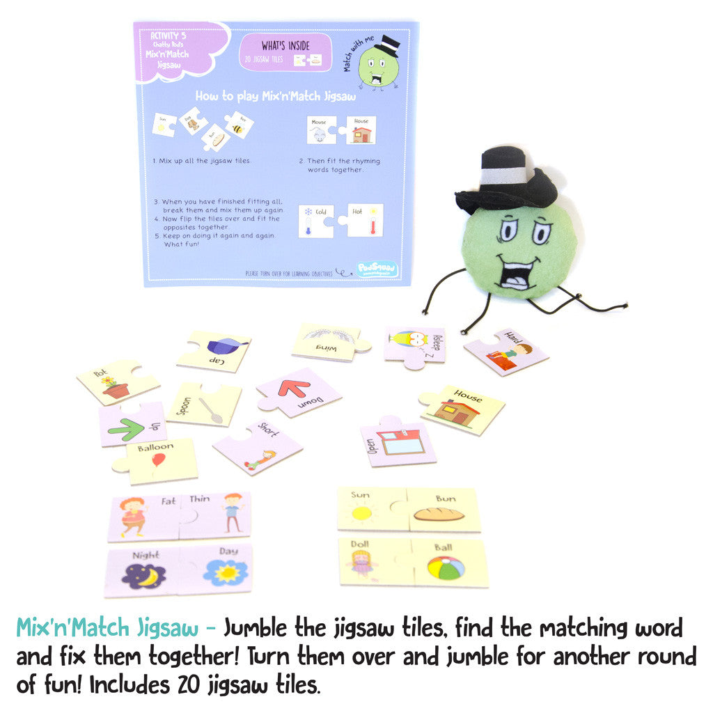 Jigsaw puzzle to learn alphabets and words