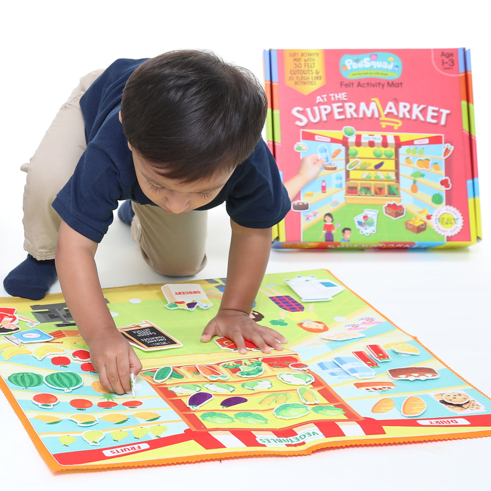Felt Activity Mat- At the Supermarket