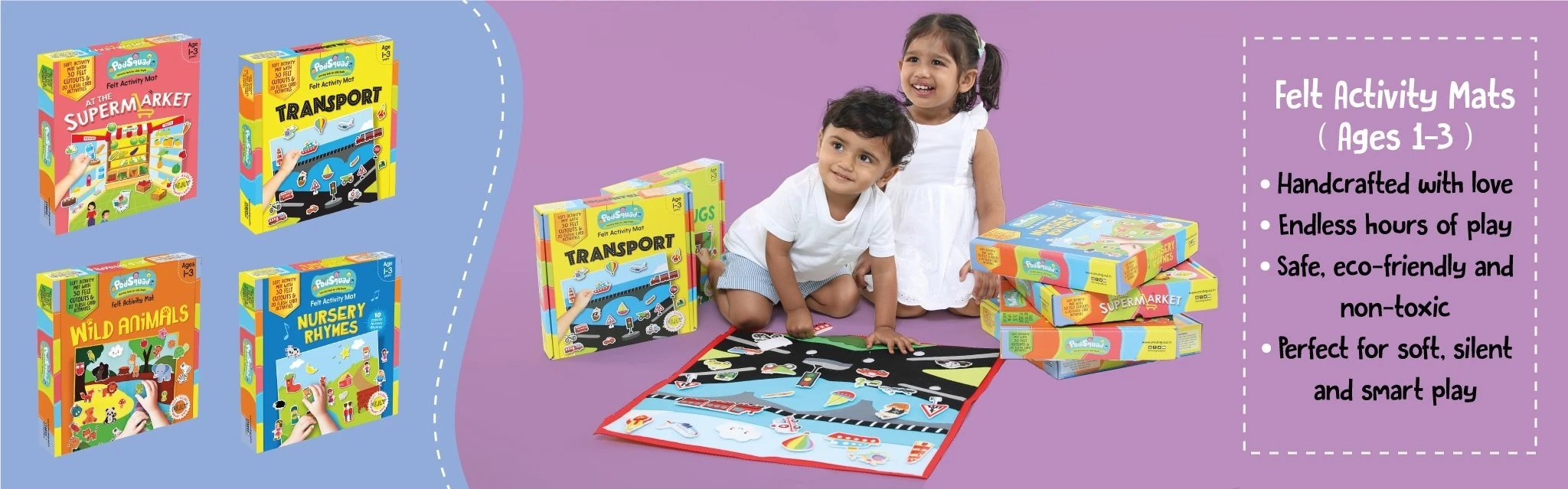 Fun learning programme in a box. Educational activity boxes. Kids.