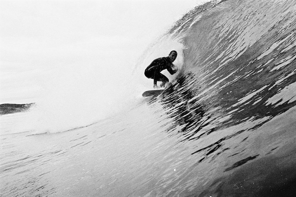 black and white surf photography from portugal