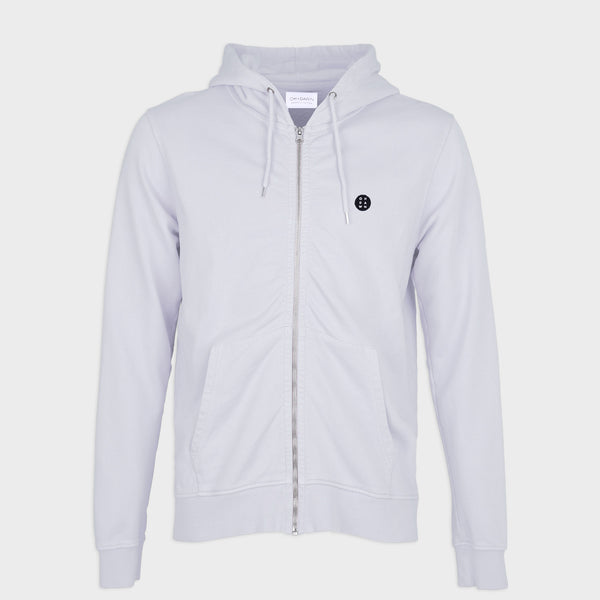 Essential Zip Hood Light Grey