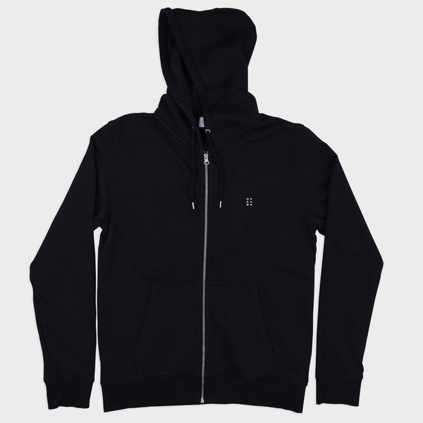 Essential Zip Hood Black