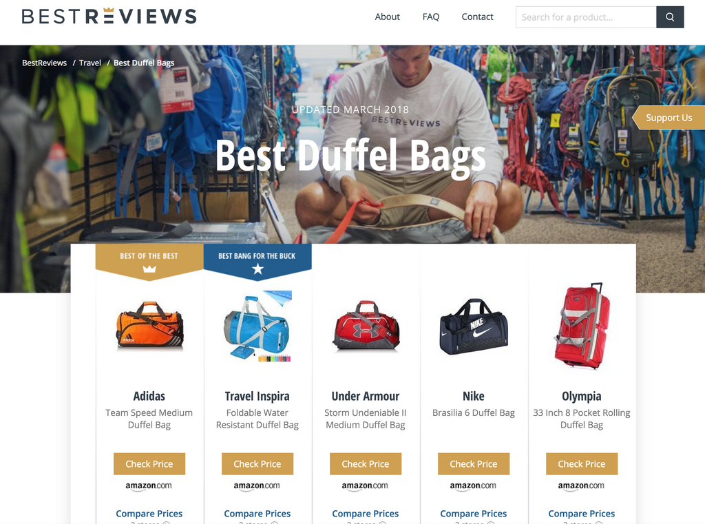 Best Duffle bag for the Buck said by Best Review