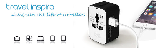 Universal power adapter plug adaptor from travel inspire inspira inspiration