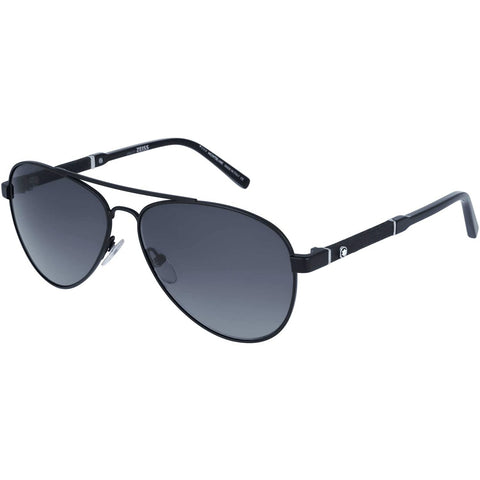 Sunglasses, Montblanc, Crafted in Italy,Montblanc Unisex Adults' MB645S 02B 59 Sunglasses, Black (Nero Opaco/Fumo Grad) - Crafted in Italy Eyewear
