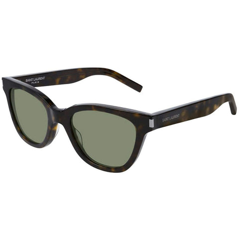 Saint Laurent SL 51 Dark Havana/Green Unisex Sunglasses