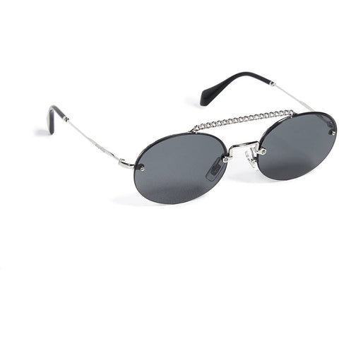Sunglasses, Miu Miu, Crafted in Italy,Miu Miu Women's Round Aviator Sunglasses - Crafted in Italy Eyewear