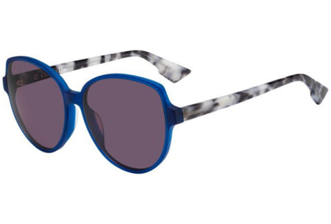 Sunglasses, Christian Dior, Crafted in Italy,Dior Women's Dioronde2 C6 Sunglasses, Mtblue, 58 - Crafted in Italy Eyewear