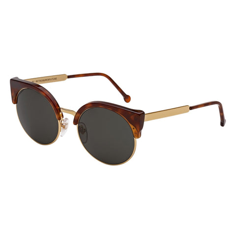 Sunglasses, RETROSUPERFUTURE, Crafted in Italy,Super Lucia 337 Ilaria Sunglasses Gold Havana Francis by RETROSUPERFUTURE - Crafted in Italy Eyewear