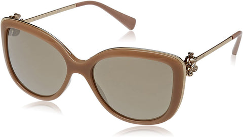 Sunglasses, Bulgari, Crafted in Italy,Bulgari Women's 0BV6094B 278/5A 57 Sunglasses, Beige/Lightbrownmirrorgold - Crafted in Italy Eyewear