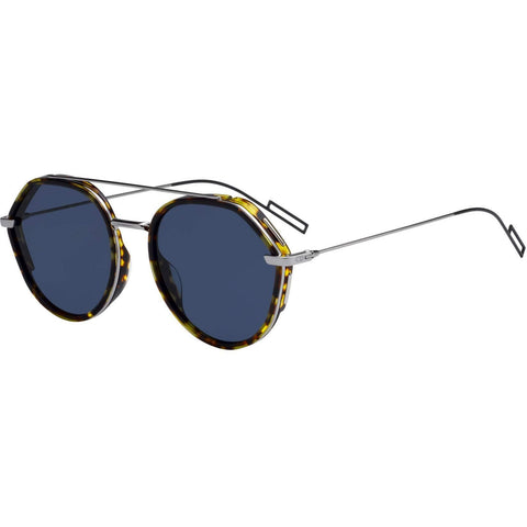 Sunglasses, Christian Dior, Crafted in Italy,Dior Homme 0219S 3MA Havana 0219S Round Sunglasses Lens Category 3 Size 53mm - Crafted in Italy Eyewear