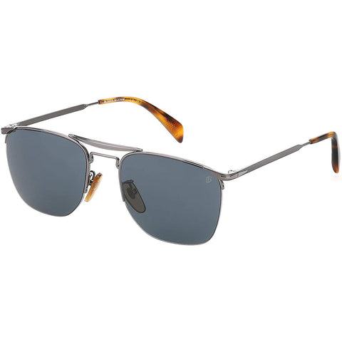 David Beckham DB 1001/S Ruthenium/Blue Grey Men's Sunglasses